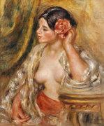 Gabrielle A Sa Coiffure, 1910 by Pierre Auguste Renoir