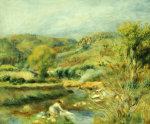 The Washerwoman, Circa 1891 by Pierre Auguste Renoir