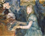 Lucie Leon At The Piano, Circa 1892 by Berthe Morisot