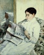 Reading 'Le Figaro' by Mary Cassatt