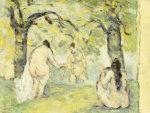Three Bathers, 1875 by Paul Cezanne