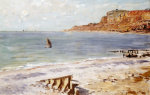 Seascape At Sainte-Adresse by Claude Monet
