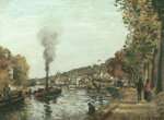 The Seine At Marly by Camille Pissarro