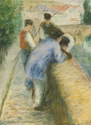 Fishermen, 1875 by Camille Pissarro