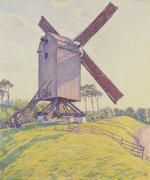 Kalf Mill, 1894 by Theodore van Rysselberghe