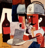 Soldier With Pipe And Bottle, 1917 by Roger de la Fresnaye