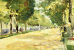 The Tiergarten Park, Berlin by Lesser Ury