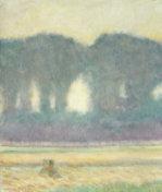 Fir Trees And A Corn Field, 1908 by August Macke