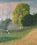 The Green Tree, Cagnes, 1924 by Felix Vallotton