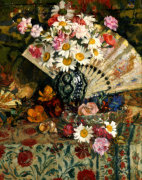 Still Life With A Fan by Georges Lemmen