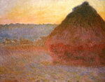 Haystacks, Pink And Blue Impressions, 1891 by Claude Monet