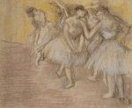 Five Dancers On Stage, Circa 1906 by Edgar Degas