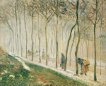 The Path, Effect Of Snow, 1879 by Camille Pissarro