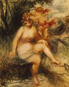 Venuis And Love (Allegory), 1860 by Pierre Auguste Renoir
