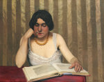 Reader With A Yellow Necklace, 1912 by Felix Vallotton