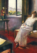 Seated Woman With A Book, 1906 by Lesser Ury