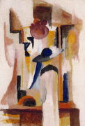 Study Of A Bright Shop Window, 1913 by August Macke
