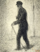 Walking, Circa 1882 by Georges Seurat