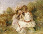 Deux Fillettes, Circa 1890 by Pierre Auguste Renoir
