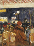 In The Café, 1928 by Lesser Ury