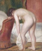 Female Nude Drying Herself, Circa 1909 by Pierre Auguste Renoir