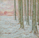 Winter In The Forest, 1912 by William Degouve de Nuncques
