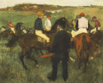 Racehorses (Leaving the Weighing) c.1874