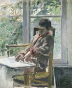 Seated Figure (Lucien), Circa 1875 by Camille Pissarro
