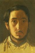 Degas Self Portrait. Degas Par Lui-Meme, Circa 1857 by Edgar Degas