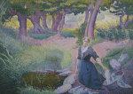 The Washer-Woman, 1895 by Henri-Edmond Cross