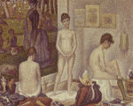 Les Poseuses (The Models) 1888