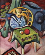 A Young Boy With Books And Toys by August Macke