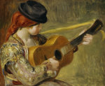 Girl With A Guitar, 1897 by Pierre Auguste Renoir