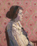 A Portrait In Profile: Mary L, 1914 by Harold Gilman