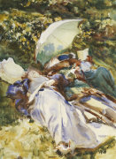 The Green Parasol c.1910