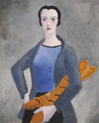 Girl With Bread, 1926 by Christopher Wood
