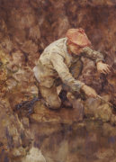 Netting Lobster by Henry Scott Tuke