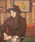 Girl With A Tea Cup, Circa 1914 by Harold Gilman