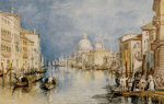 The Grand Canal Venice with Gondolas and Figures in the Foreground