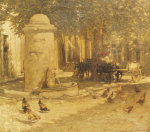 Fountain In A Provencal Village by Henry La Thangue