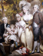 Group Portrait Of Sir John Taylor, His Wife Elizabeth And Children by Daniel Gardner