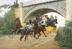 Startled By Steam, 1877 by Jean Richard Goubie