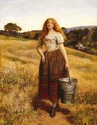 The Farmer's Daughter by Sir John Everett Millais