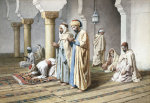 Arabs At Prayer, 1884 by Frederico Bartolini