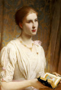Portrait Of Miss Helen Lindsay by Charles Edward Perugini