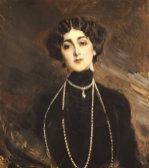Portrait Of Lina Cavalieri, C.1901 by Giovanni Boldini
