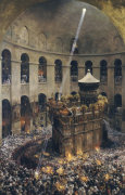 The Sacred Fire Of Jerusalem by Eugene Alexis Girardet