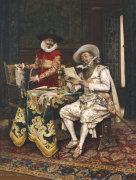 The Connoisseurs, 1886 by Adolphe Alexandre Lesrel