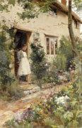 The Cottage Garden, 1884 by Alfred Augustus Glendening