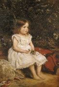Portrait Of Eveline Lees As A Child, 1875 by Sir John Everett Millais